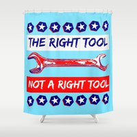 politics Shower Curtains featuring Election by pollylitical