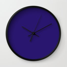 Solid dark blue Wall Clock