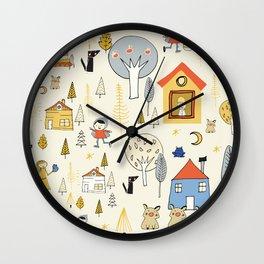 Wonderland Fairy Tale Pearl Wall Clock