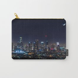 Decembers Blue Moon over the LA skyline Carry-All Pouch