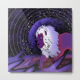 Moon Lion Metal Print