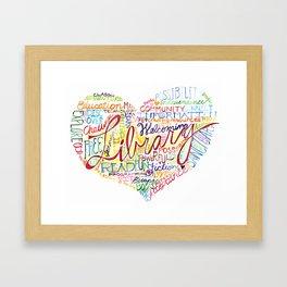 Library Heart Framed Art Print