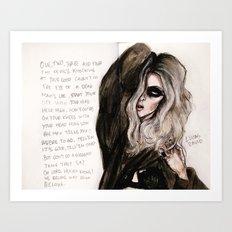 Heaven knows lyrics Art Print