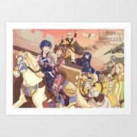 fire emblem Art Prints featuring Fire Emblem- Parade by Frauleinandry