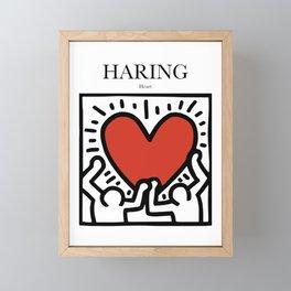 Haring - Heart Framed Mini Art Print