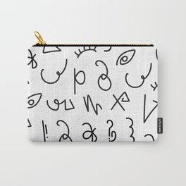 Secret Lettering Carry-All Pouch
