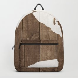 South Carolina is Home - White on Wood Backpack
