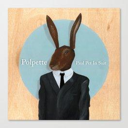 Paul Pet In Suit Canvas Print