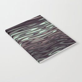 Ripples Fractal in Mint Hot Chocolate Notebook