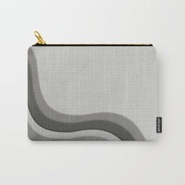 Pantone Pewter Gray Soothing Waves with Canvas Texture Carry-All Pouch