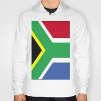 south africa Hoodies featuring South Africa Flag (1994) by Barrier Style & Design