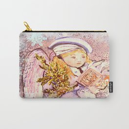 The Caroling Angel Carry-All Pouch