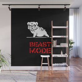 Beast Mode English Bulldog Wall Mural