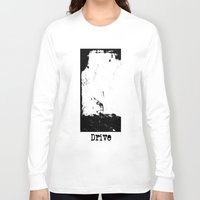 drive Long Sleeve T-shirts featuring Drive by Slug Draws