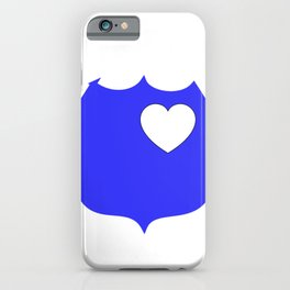 Heart Blue Police Officer Badge iPhone Case