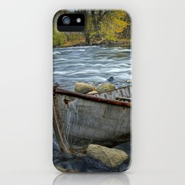 Canoe on the Thornapple River in Autumn iPhone Case