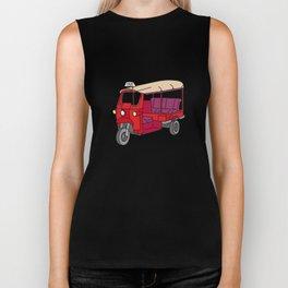 Red tuktuk / autorickshaw Biker Tank