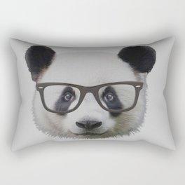 Panda with Nerd Glasses Rectangular Pillow