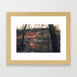 Red rocks near Stourport on Severn, Worcestershire Framed Art Print