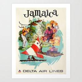 Vintage poster - Jamaica Art Print