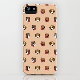 Cute and Elegant Dog Head Graphic Pattern iPhone Case