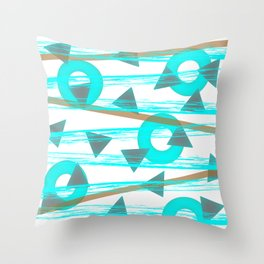 Shower Shapes Throw Pillow