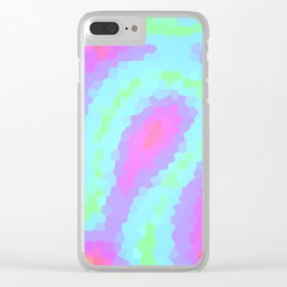 Pretty Pastel Wiggly Geometric Design! Clear iPhone Case