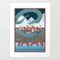 Mythical Monsters Art Print