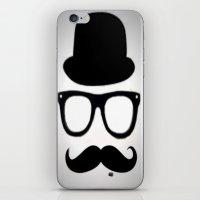 gentleman iPhone & iPod Skins featuring Gentleman by Amy Copp