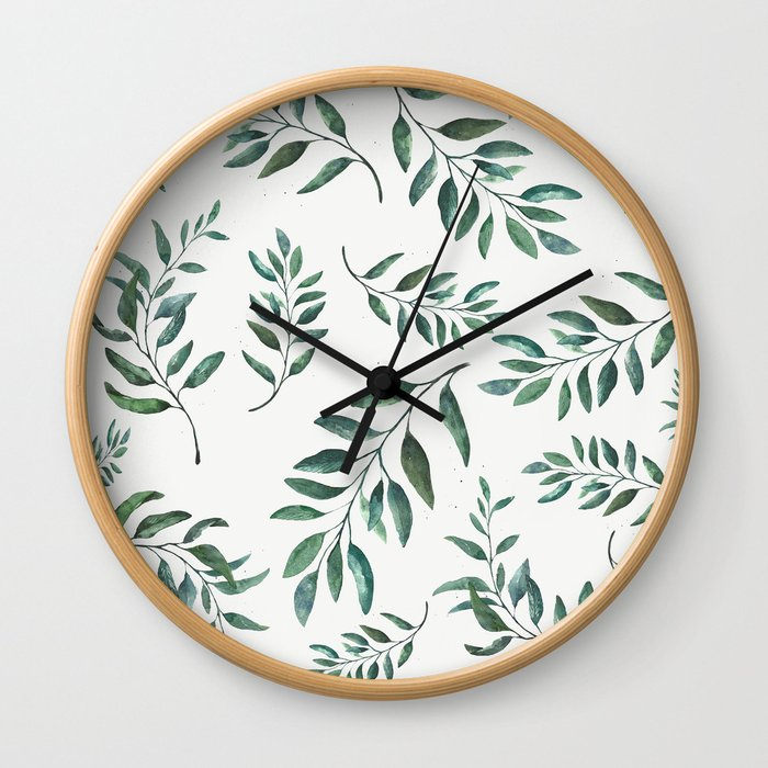 Leaves 3 Wall Clock