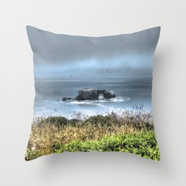 Arched Rock Sonoma Coast Throw Pillow
