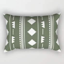 Southwestern Green Rectangular Pillow