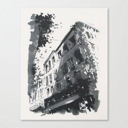 Street scene in sunny Provence Canvas Print