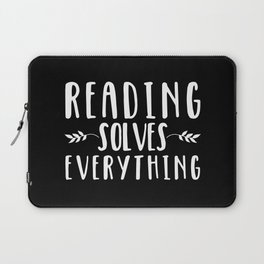 Reading Solves Everything (inverted) Laptop Sleeve