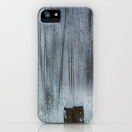 Snow and raindrops iPhone Case