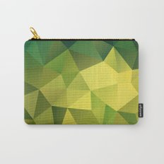 Abstract of triangles polygon in green yellow lime colors Carry-All Pouch