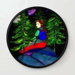 Waiting In The Moonlight Wall Clock