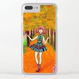 Bosque otoñal Clear iPhone Case