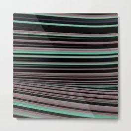 Classy Stripes Metal Print
