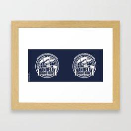 Vandelay Industries # 2- Blue Framed Art Print