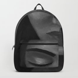 On My Mind by Lu, black-and-white Backpack