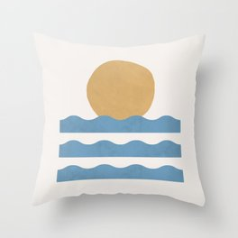 Sun Wave - Abstract Painting Throw Pillow