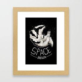 Space Badger Framed Art Print