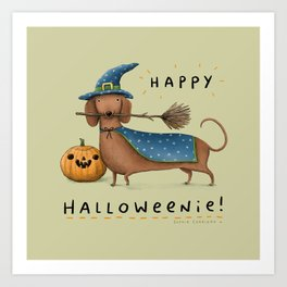 Happy Halloweenie! Art Print