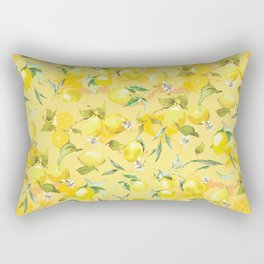 Watercolor lemons 5 Rectangular Pillow