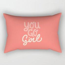 You Go Girl Rectangular Pillow
