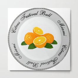 Citrus Festival Plate Metal Print