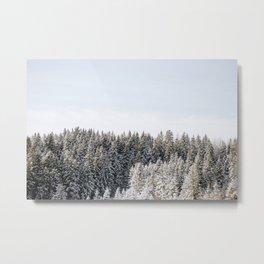 Snowy Treetops Metal Print