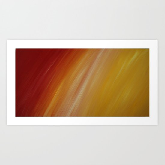 Warm colours Art Print