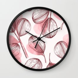 Round Leaves 4 Wall Clock